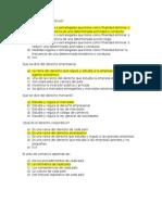 Cuestionario de Derecho Empresarial