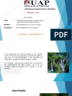 caracteristicas del agua potable