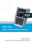 BER-1560 Data Transmission Analyzer