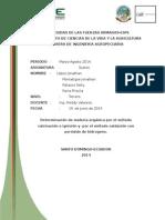 232520356 Determinacion de Materia Organica Por El Metodo Calcinacion o Ignicion y Por El Metodo Oxidacion Con Peroxido de Hidrogeno