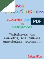 Cuaderno Atención vs Matemáticas