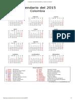 Calendario de Colombia Del 2015 _ ¿Cuándo en El Mundo