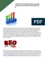 Posicionamiento En Motores de búsqueda Bucaramanga, Colombia, Posicionamiento Web, Primeras Posiciones En Google, Yahoo, Bing.