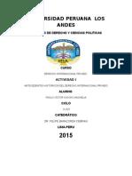 Tarea 1 Derecho Int. Privado