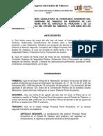Decreto 026 Sistema Penal Acusatorio Tabasco