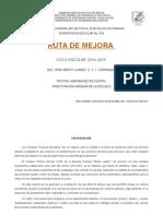 Ejemplo de Ruta de Mejora 2014-2015