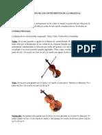 Clasificación de Los Instrumentos de La Orquesta
