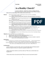 CH-02 What is a Healthy Church