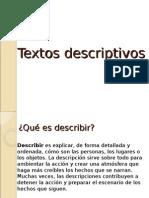 Textos descriptivos