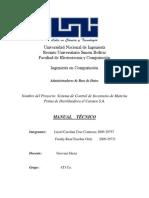 Manual Tecnico de una base de datos