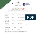 Programa y Sinopsis de Peliculas Cine en Francofonia