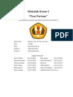 Makalah Kasus Post Partum Tutor 3