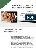 Problemas Psicologicos en La Vida Universitaria