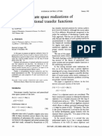 Generalized State Space Realizations of Non-proper Rational Transfer Functions