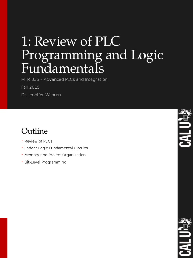 Fundamentals Of Plcs Review Programmable Logic Controller Subroutine Plc Latched Circuit Example