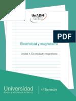 Unidad 1. Electricidad y Magnetismo