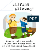 Bullying Not Allowed Poster