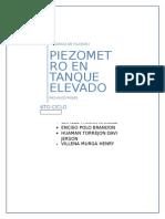 Informe Piezometro en Tanque Elevado