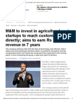 M&M to invest in agricultural sect startups to reach customers directly; aims to earn Rs 10k cr revenue in 7 years _ ET Auto.pdf
