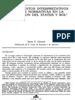 Procedimientos interpretativos y reglas normativas en la negociación del status y rol (Aaron Cicourel)