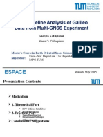Zero-Baseline Analysis of Galileo Data from Multi-GNSS Experiment