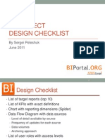 BI Project Design Checklist