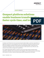 Genpact Capital Market Platform Solutions and services help clients transform their operations, optimize costs, and improve risk mitigation.