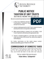 Taxation of Unit Trusts