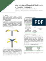 Diseño del Diámetro Interior del Émbolo Cilíndrico de un Elevador Hidráulico