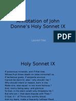 Mutimodal Sonnet IX Annotation