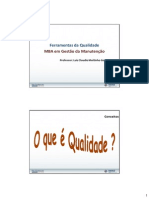 Ferramentas da Qualidade - MBA Gestão Manutenção Rev.00