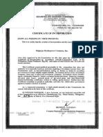 AIC & by Laws (Majayjay Hydropower Company, Inc.)