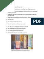 Kerajinan Tekstil Tradisional Indonesia
