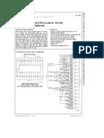 DM54LS154/DM74LS154 4-Line to 16-Line Decoders/Demultiplexers