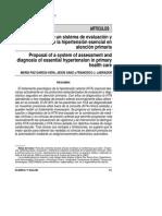 Propuesta de un sistema de evaluacion y diagnostico de la hipertensión arterial