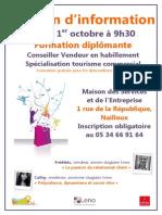 jeudi 01 octobre - Réunion d'information + entretien - formation conseiller vendeur LENO