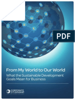 From My World to Our World - What the SDGs Mean for Business