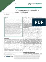 Cancer Genomics Translation Review14