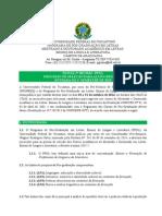Edital Nº 01_2014 - PPGL - Seleção Mestrado e Doutorado