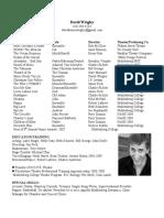 Dave's Resume 2-5-10