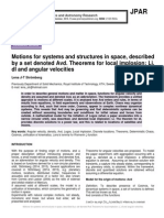 Motions for systems and structures in space, described by a set denoted Avd. Theorems for local implosion; Li, dl and angular velocities