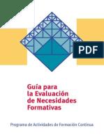 Guia de Evaluacion de Necesidades Formativas