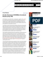 Zscaler Announces $100 Million Investment