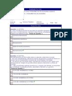 Fundamentos de Economia - (29) - AV1 - 2012.3