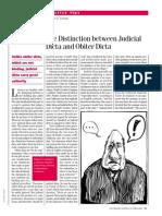 Judicial vs Obiter