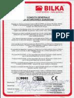 Certificat garantie Bilka