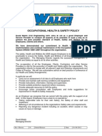 Occupational H&S Policy - DWCE
