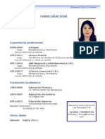 Curriculum Vitae Modelo1 Azul