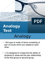 Report Assessment Analogy