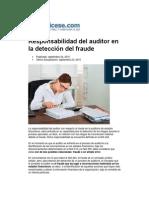 La responsabilidad del auditor en la detección del fraude